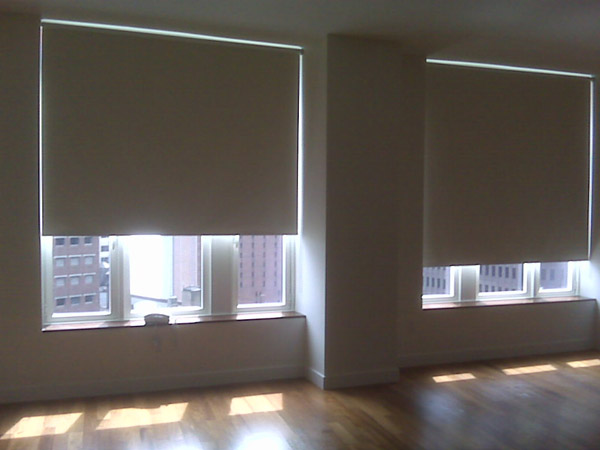 Motorized roller shades nyc motorized shades nyc Motorized blackout shades with side channels