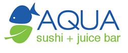aqua sushi juice bar logo