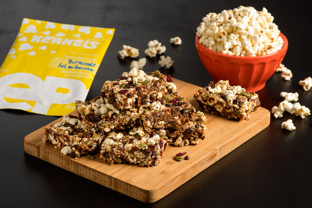 Popcorn Trail Mix Bars