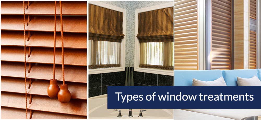 Types of window treatments Types of blinds