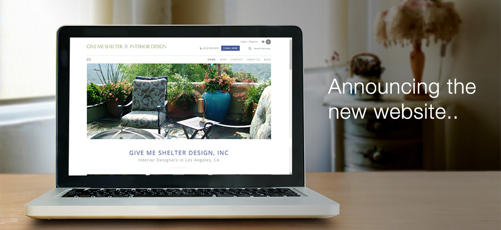 Announcing the New Website - Give Me Shelter Design