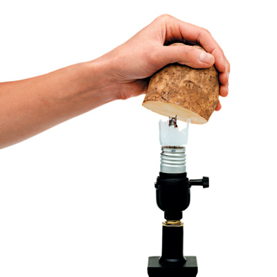 How to Change a Broken Light Bulb - With a Potato