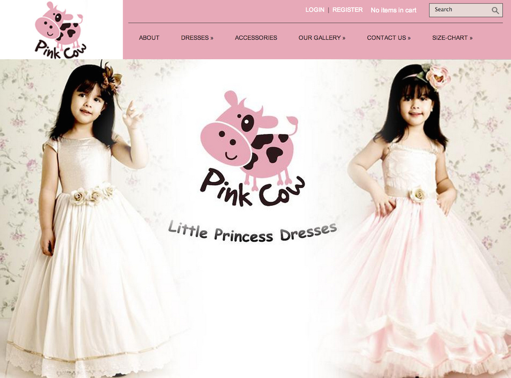 Pink Cow Fashions website
