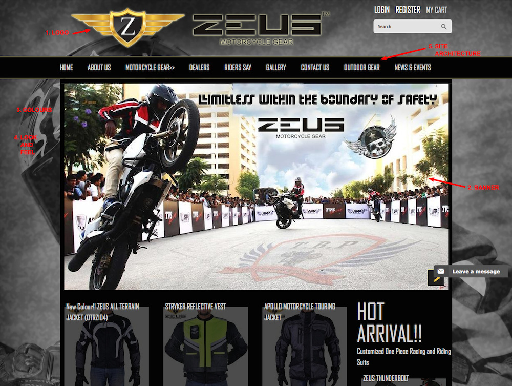 5 Ways to Personalise your Online Store displayed on Zeus Motorcycle Gear