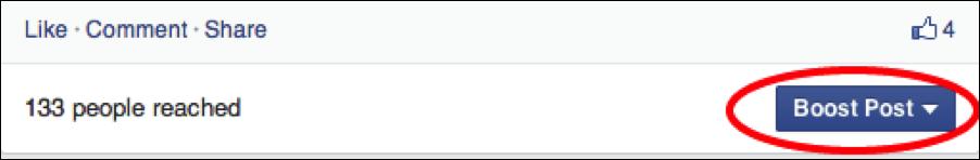 Facebook Boost Post screenshot