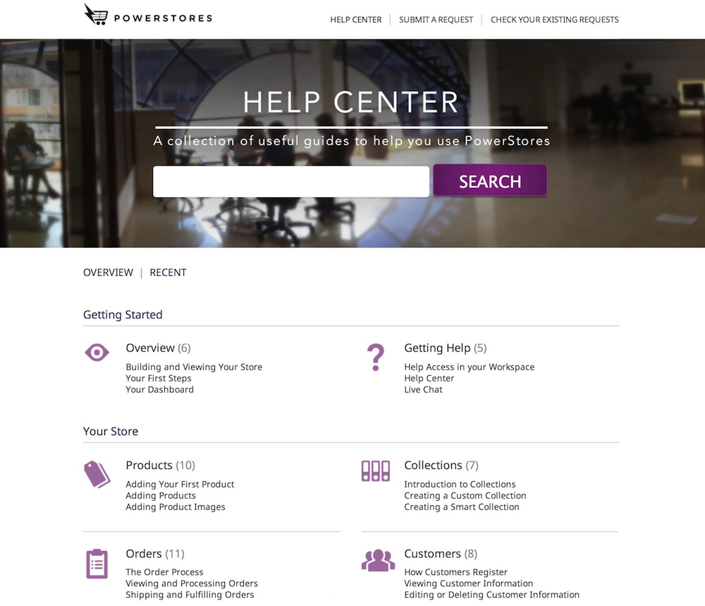 PowerStores Help Center