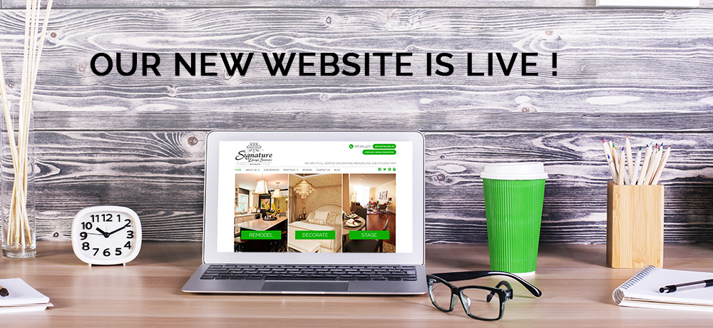 Announcing the Launch of our New Website | Signature Design ...