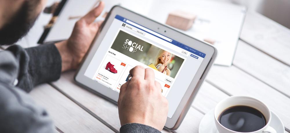 Facebook store on an iPad