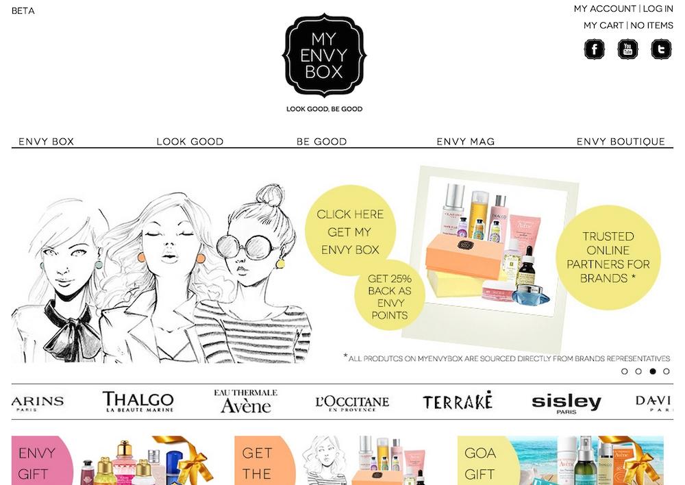 MyEnvyBox.com home page
