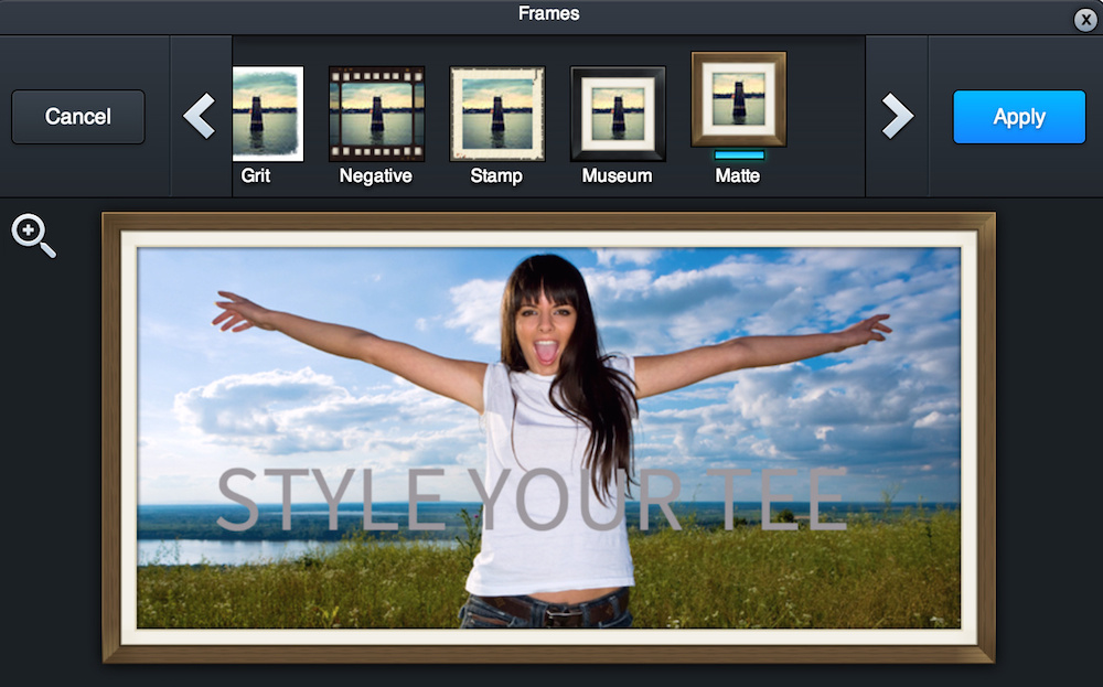 Edit your photos easily and instantly while uploading