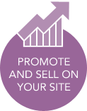 Promote and Sell on Your Site